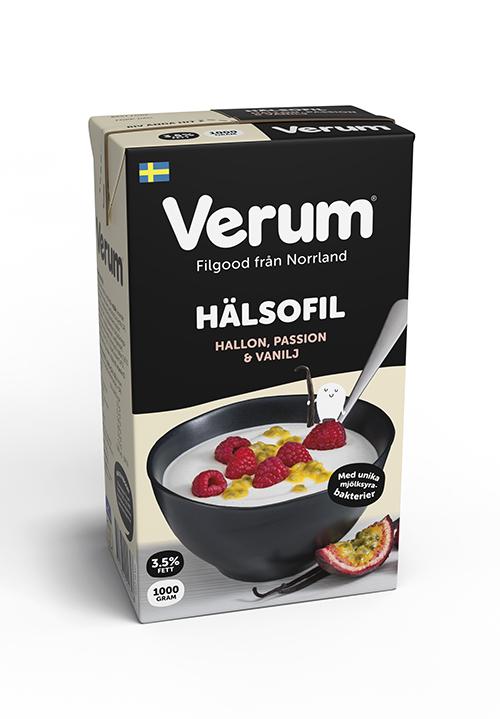 Verum® Hälsofil 3,5% Hallon-Passion-Vanilj