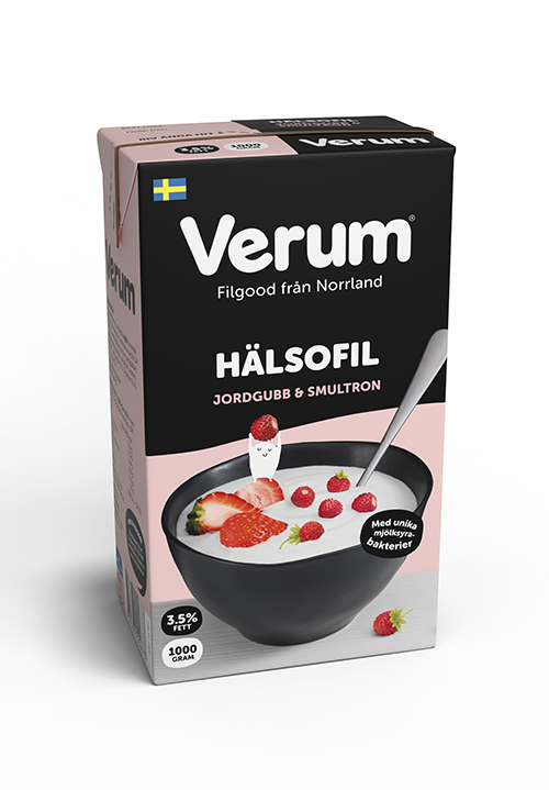 Verum® Hälsofil 3,5% Jordgubb-Smultron