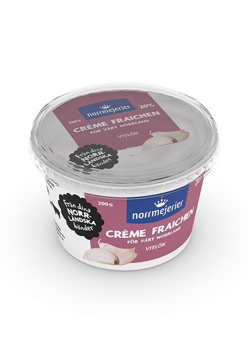 Crème Fraiche 20% Vitlök