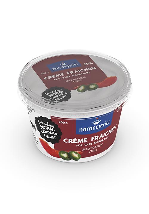 Crème Fraiche 20% Mexikansk Chili