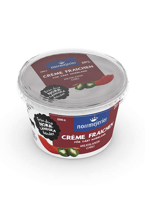 Crème Fraichen Mexikansk Chili 20% 200g