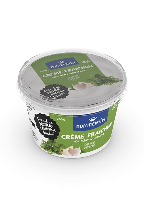 Crème Fraichen Örter-Vitlök 20%
