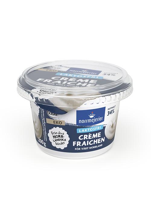 Ekologisk Laktosfri Crème Fraiche 34% KRAV
