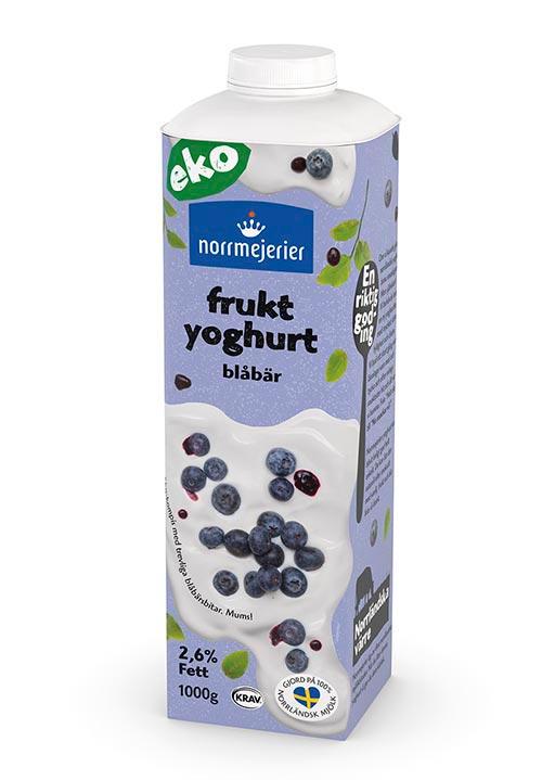 Ekologisk Fruktyoghurt 2,6% Blåbär KRAV