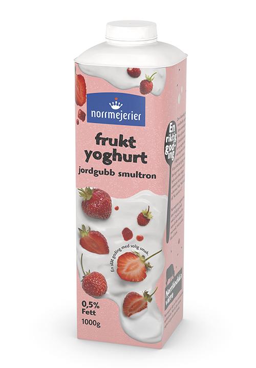 Fruktyoghurt 0,5% Jordgubb-Smultron