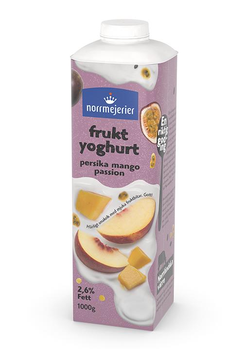 Fruktyoghurt 2,6% Persika-Mango-Passion