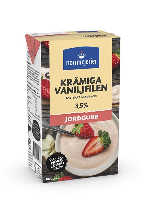 Krämiga Vaniljfilen med jordgubb 3,5%
