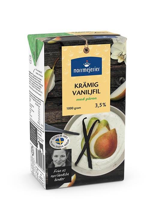 Krämig Vaniljfil med päron 3,5%
