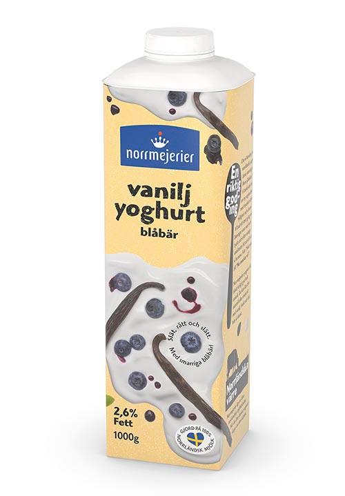 Vaniljyoghurt 2,6% Blåbär