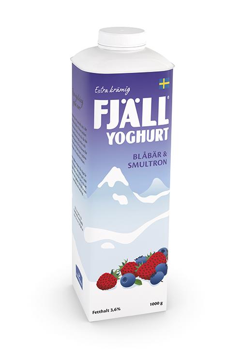 Fjällyoghurt® 3,6% Blåbär-Smultron