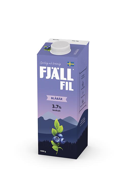 Fjällfil® 3,7% Blåbär 1000g