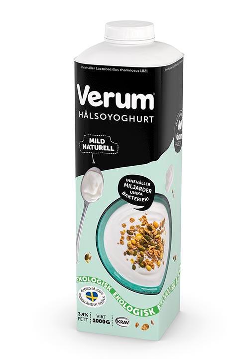 Ekologisk Verum® Hälsoyoghurt 3,4% Naturell KRAV