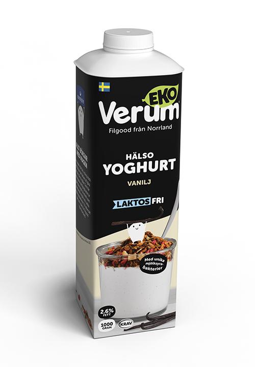 Verum Hälsoyoghurt Ekologisk Laktosfri 2,6% Vanilj KRAV