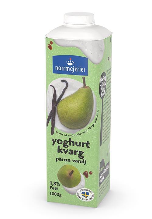 Yoghurtkvarg 1,8% Päron-Vanilj