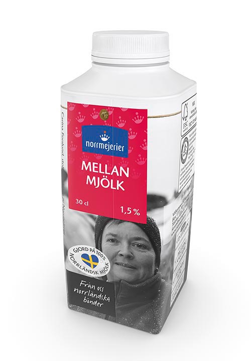 Mellanmjölk 1,5%  30 cl