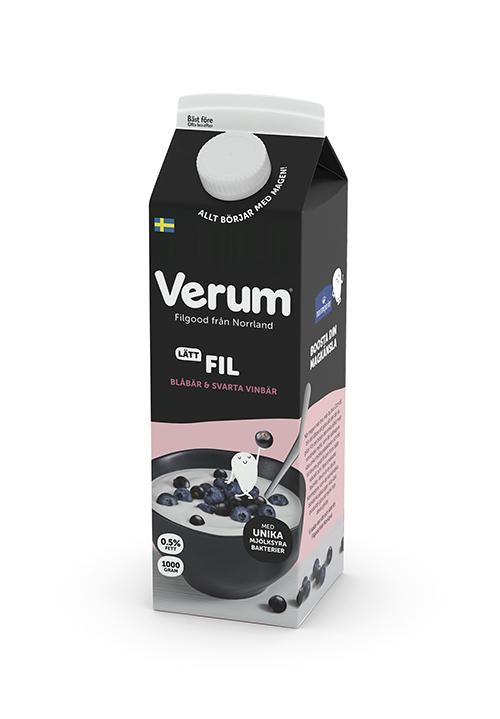Verum® Hälsofil 0,5% Blåbär/Svartavinbär 1000g