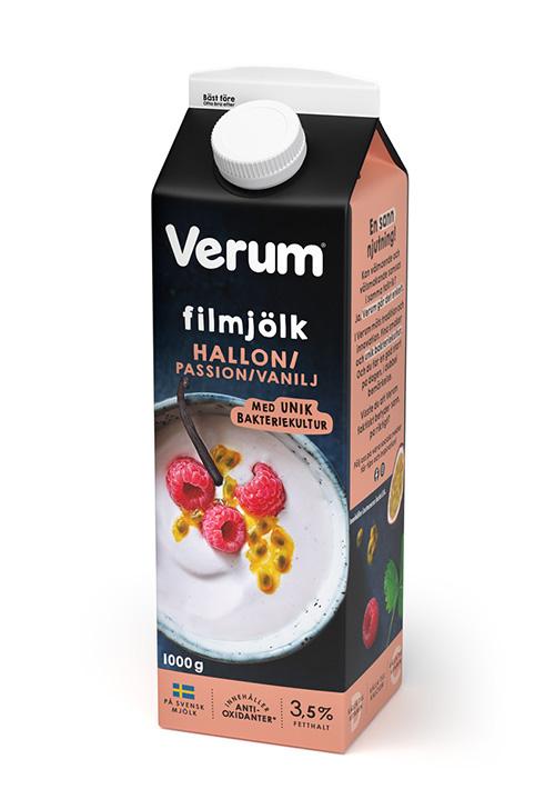 Verum® Hälsofil 3,5% Hallon/Passion/Vanilj 1000g