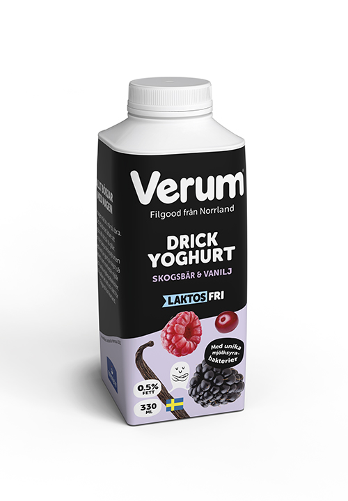 Verum® Drickyoghurt 0,5% Skogsbär-Vanilj Laktosfri