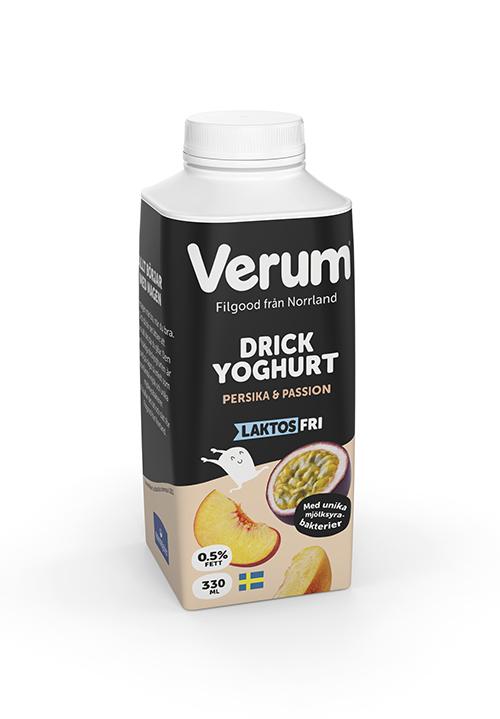 Verum® Drickyoghurt 0,5% Persika-Passion Laktosfri 330ml