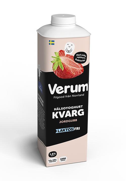 Verum® Hälsoyoghurt Kvarg 1,8% jordgubb Laktosfri
