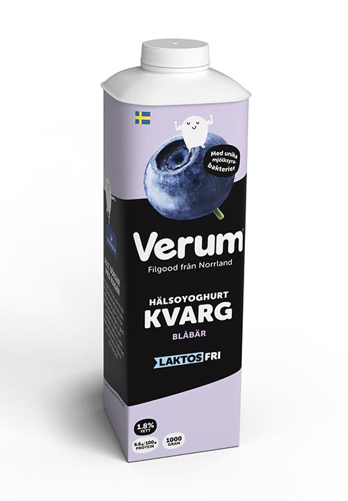 Verum® Hälsoyoghurt Kvarg 1,8% Blåbär Laktosfri