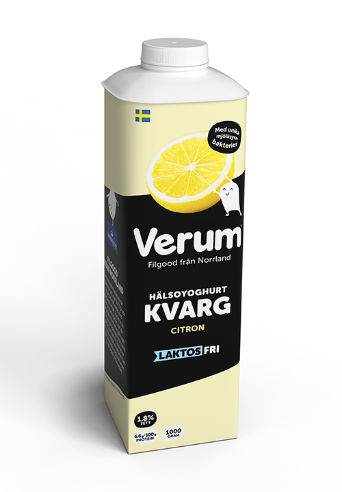 Verum® Hälsoyoghurt Kvarg 1,8% Citron Laktosfri