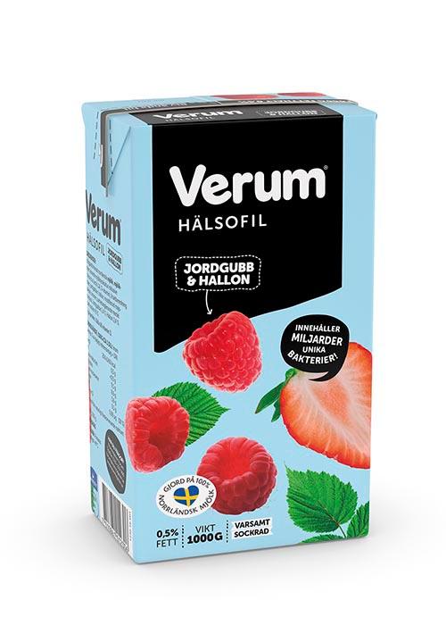 Verum® Hälsofil 0,5% Jordgubb-Hallon