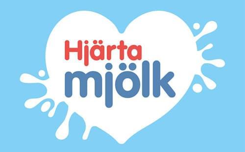 Hjärta mjölk